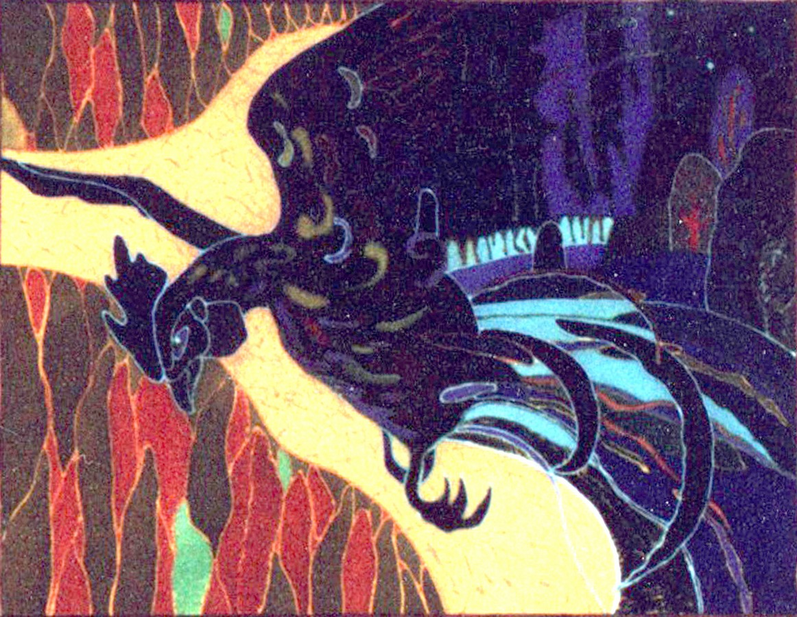 Купалье. Батик, 100х80, 2004г