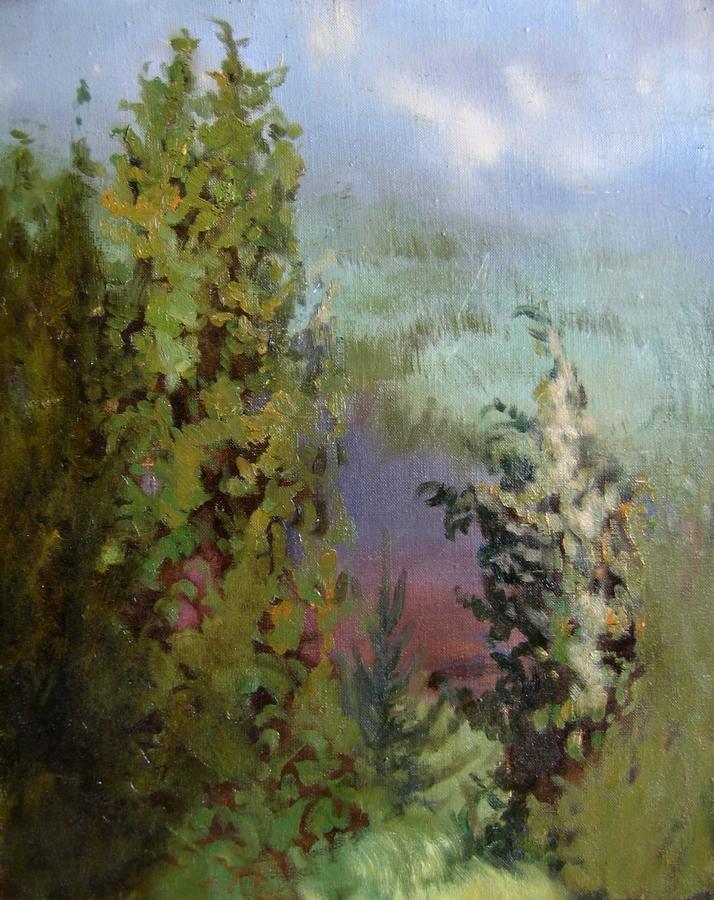 На берегу озера. Холст, масло, 40х50, 2005г