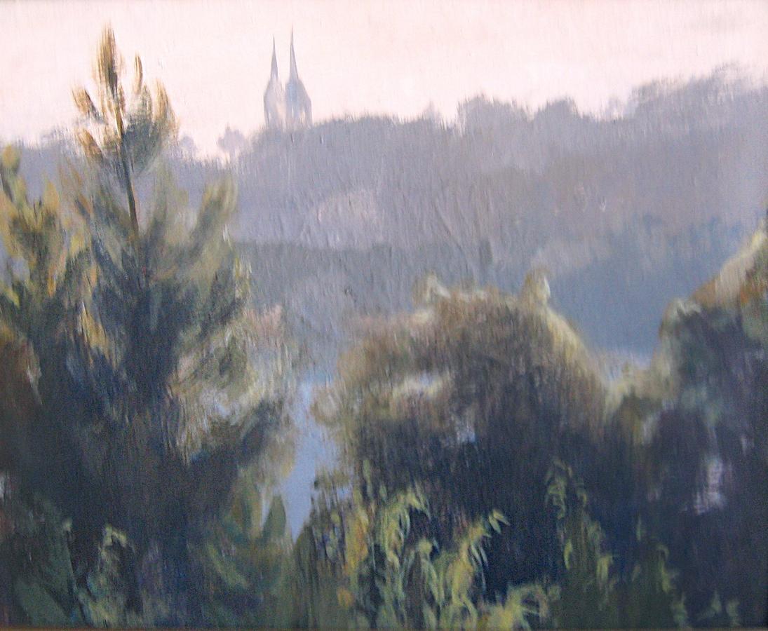 Рассвет. Двп, акрил, 25х30, 2005