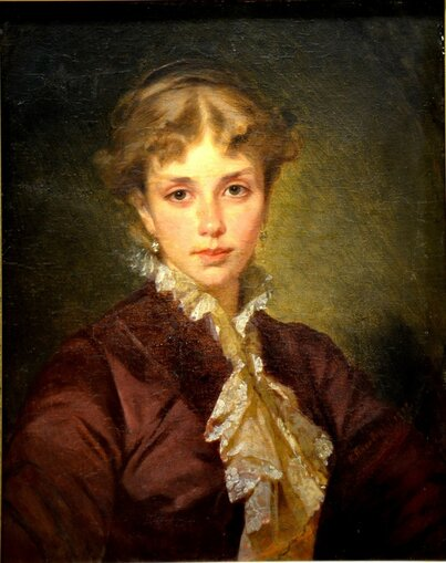 Маковский Константин Егорович 1839—1915 Женский портрет. 1878 холст масло 59,4 x 48