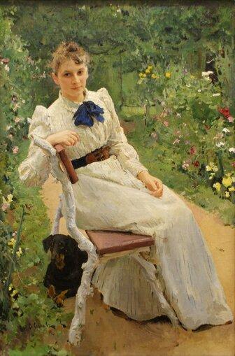Валентин Серов. Тамара Ольга Федоровна (1892)) (1)