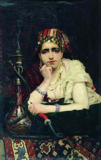 Поленов Василий Дмитриевич [1844—1927] Одалиска. 1875 холст масло