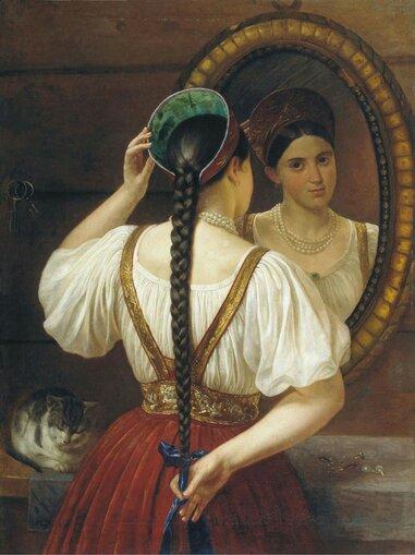 Будкин Филипп Осипович (1806 - 1850) Девушка перед зеркалом