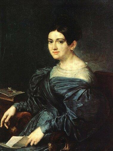 Василий Андреевич Тропинин (1776-1857) Портрет Л.Н. Кожиной 1834