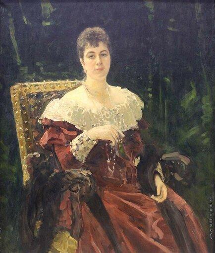 Репин Илья Ефимович (1844—1930) Портрет М. К. Тенишевой 1892—1893