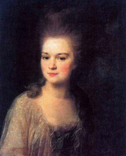 Федор Степанович Рокотов (1736 - 1808) Графиня Анна Петровна Кутайсова 1780-e