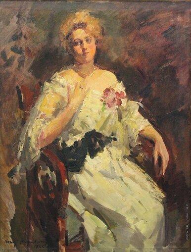 Коровин Константин Алексеевич (1861-1939) Портрет Н. И. Комаровской 1922