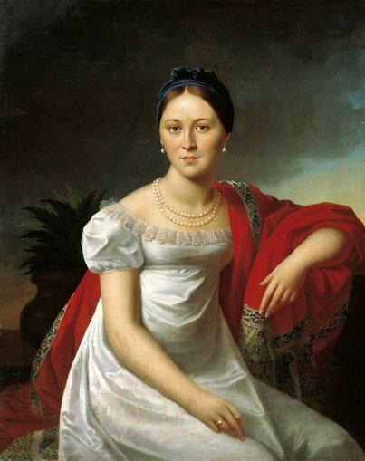 Олешкевич Иосиф Иванович (1777-1830) Портрет молодой женщины