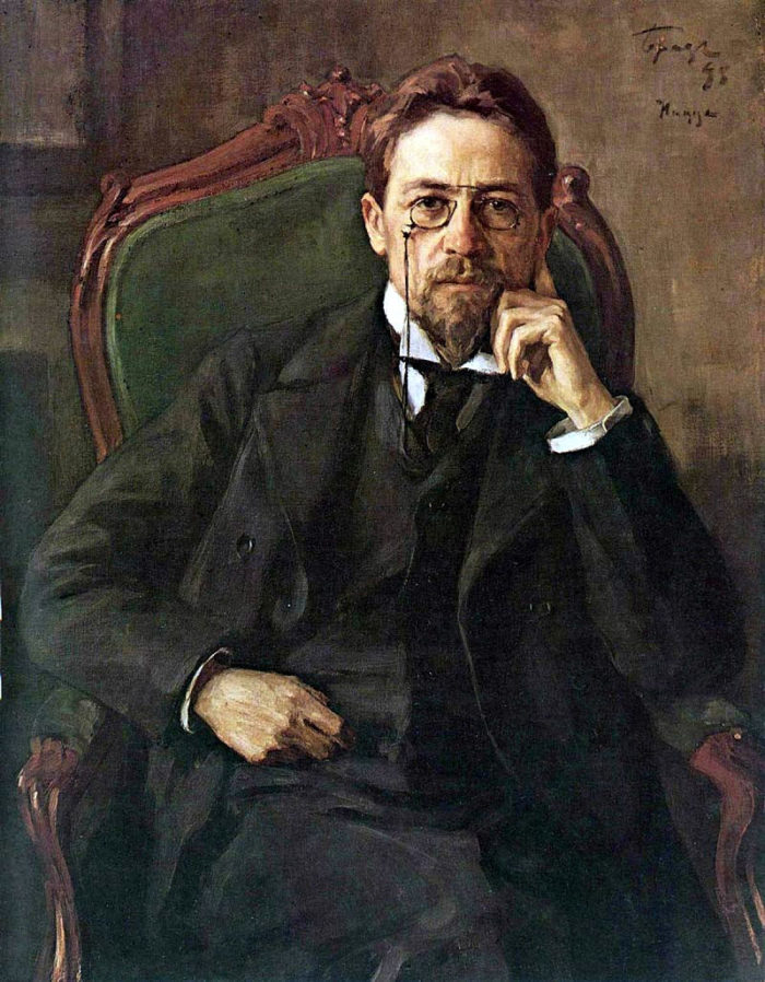 Портрет Чехова работы О. Браза