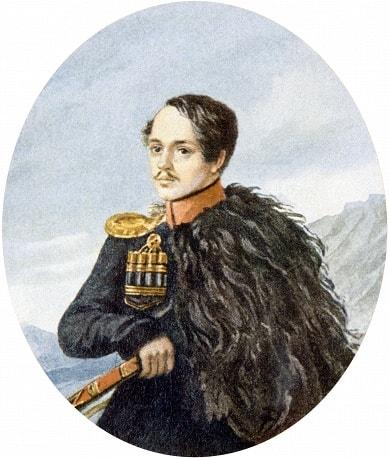 Автопортрет Лермонтова, 1837, бумага, акварель.