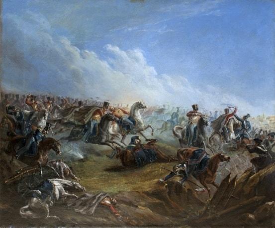 Атака лейб-гвардии гусар под Варшавой