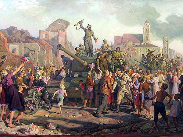 Картина Валентина Волкова «Освобождение Минска»