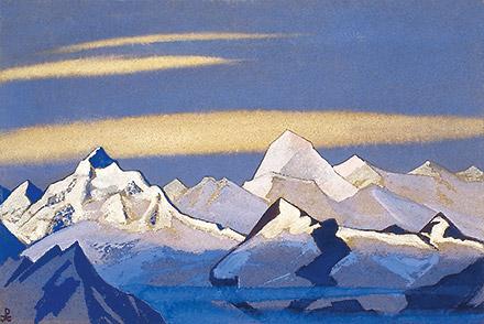 Эта картина, на которой Николай Рерих изобразил Эверест, висела в рабочем кабинете Доктора с тех самых пор, как мы его знали...