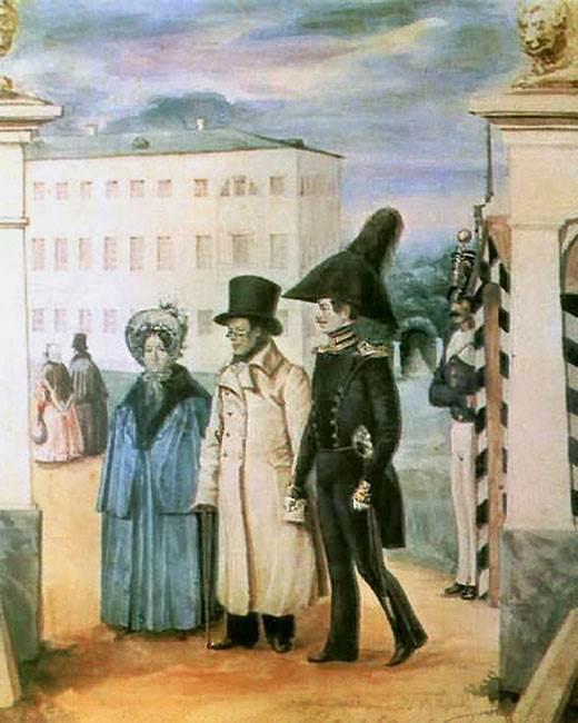 П. Федотов. Прогулка. 1837