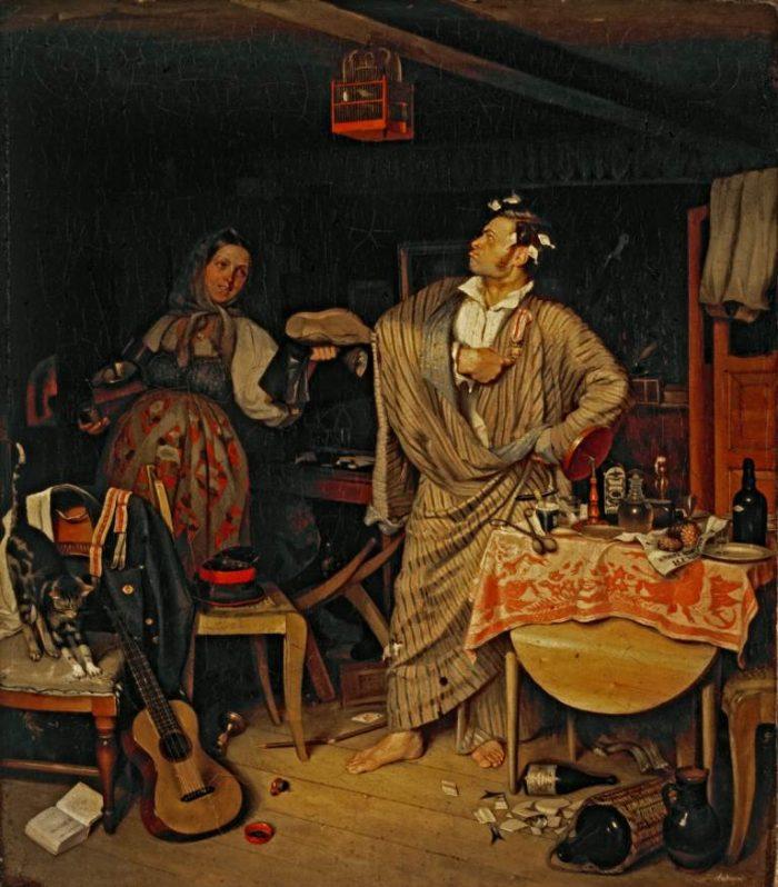 П. Федотов. Свежий кавалер. 1846