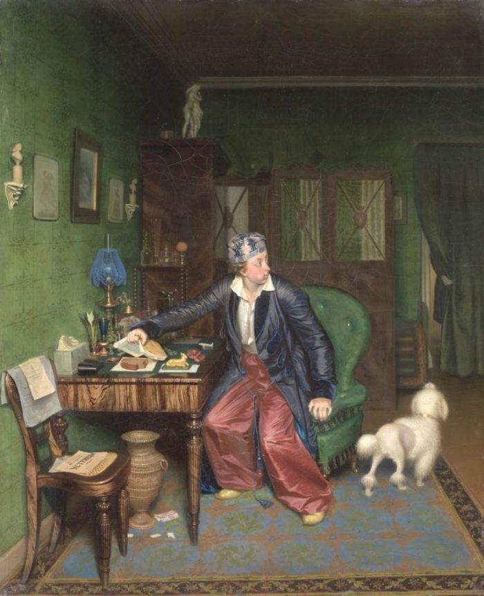 П. Федотов. Завтрак аристократа. 1849–1850