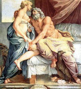 Юпитер и Юнона. Аннибале Карраччи. 1597 г.