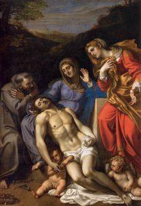 Пьета. Аннибале Карраччи. Между 1602 и 1607 гг