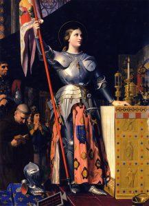 Жанна д'Арк на коронации Карла VII в Реймском соборе. Жан-Огюст-Доминик Энгр. 1854 г.