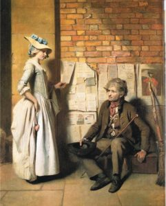 Генри Уолтон. Девушка, покупающая балладу. 1778 год.