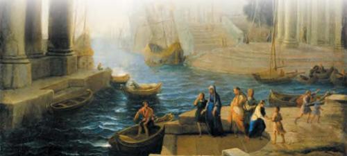 Отплытие святой Паолы Римской. Клод Лоррен.После 1642 г.