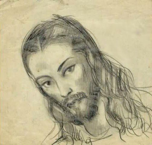 С.Н.Рерих. Христос.Рисунок